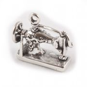 Antique Sewing Machine 3D Sterling Silver Charm